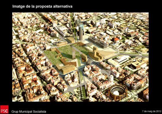 Propuesta del PSC de reforma de la plaza de las Glòries