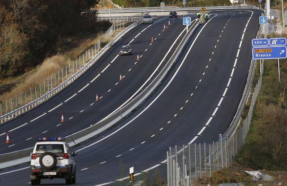 La autovía del Barbanza,el día de su inauguración.