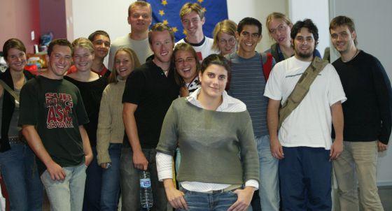 Estudiantes de Erasmus de hace años en la Politécnica de Valencia