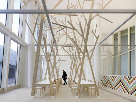Imaxe da cantina da Cidade da Cultura, un proxecto realizado polo Estudio Nómada de Santiago.