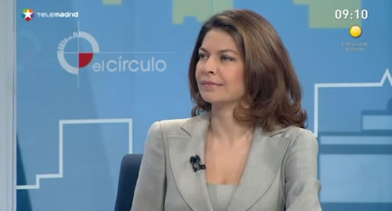Lucía Figar, esta mañana en Telemadrid.
