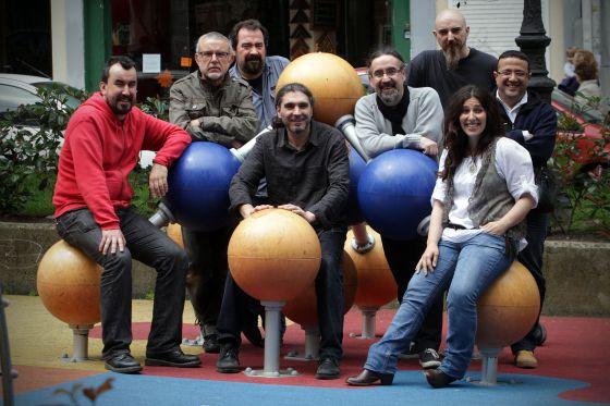 El grupo folk Luar na Lubre, la semana pasada en A Coruña.
