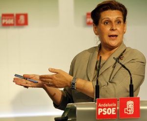 La presidenta del PSOE andaluz, Rosa Torres.