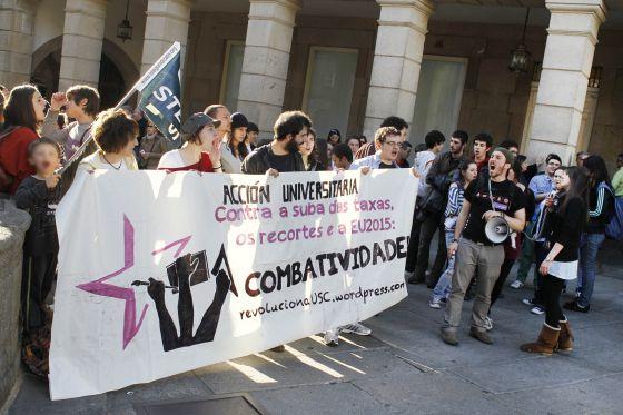 Imagen de la manifestación de Santiago