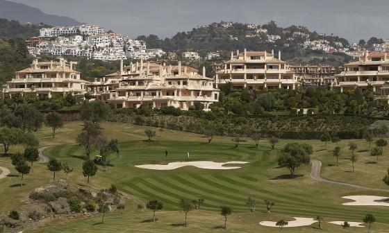 Una vista del campo de golf de Benahavís.