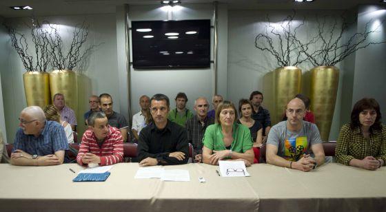 Rueda de prensa de la presentación en Bilbao de las conclusiones de un debate entre el colectivo de presos de ETA.