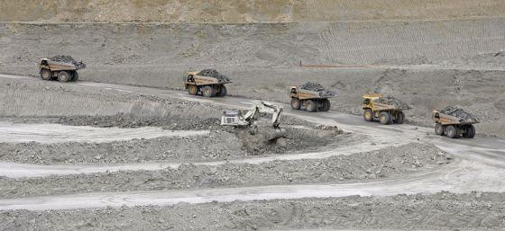 Actividad en la mina sevillana Cobre Las Cruces.