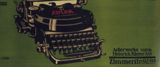 Cartel de Lucian Bernhard para la marca Adler, de 1914.
