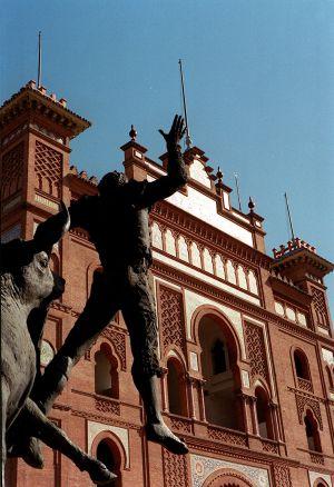 Facha de la plaza de toros de Las Ventas.