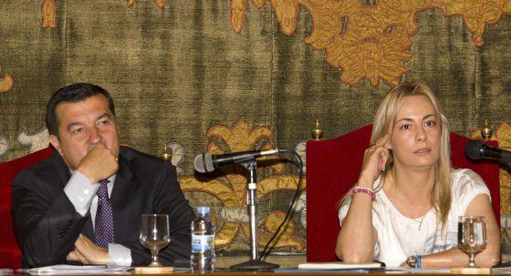 Sonia Castedo durante el pleno del Ayuntamiento de Alicante.