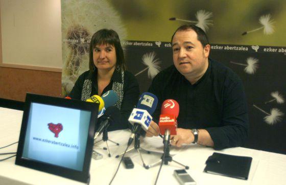 Pernando Barrena y Maribi Ugarteburu, en San Sebastián.