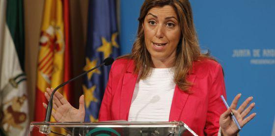 Susana Díaz, tras el Consejo de Gobierno de este martes.