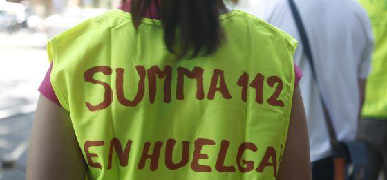 Los servicios Summa 112 en huelga.