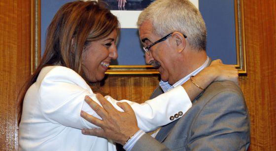 Susana Díaz y Jiménez Barrios, en el Parlamento.