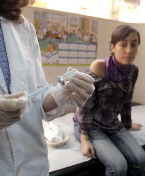 Vacunas en el centro de salud Espronceda de Madrid.