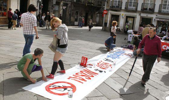 Protestas contra las nuevas normas de espacio público en Santiago