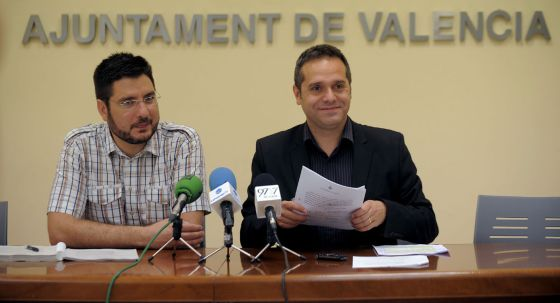 Ignacio Blanco y Amadeu Sanchis, durante su comparecencia este viernes.
