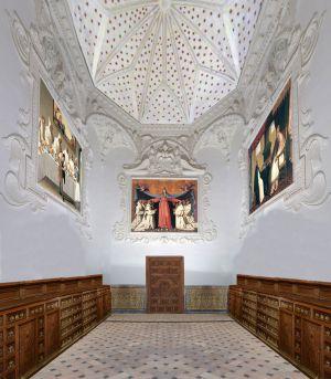 'Zurbaranes' en la sacristía de La Cartuja, las obras están en el Bellas Artes de Sevilla.