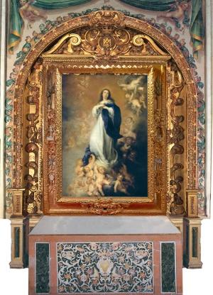 'Inmaculada', de Murillo, propiedad del Prado, en la iglesia de los Venerables.