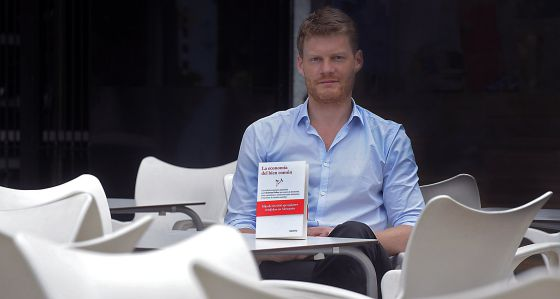 Christian Felber, autor de 'La economía del bien común', en Valencia.