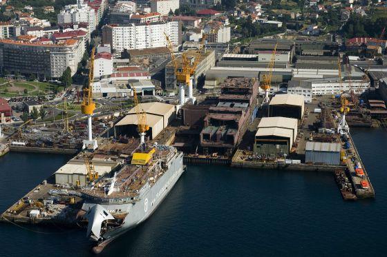 Vista aérea de los astilleros de Barrera