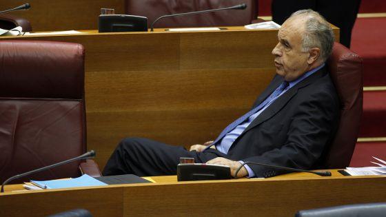 Rafael Blasco, en su escaño de portavoz del PP en las Cortes Valencianas..
