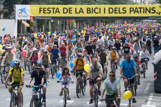 Fotografía de la edición de 2009 de la 'Fiesta de la Bici i del patins'.