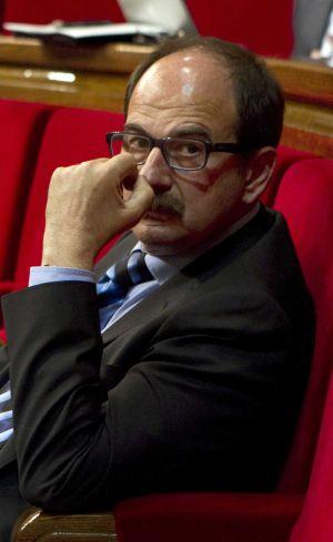 Crespo, diputado por CiU, en el Parlament el pasado día 6.