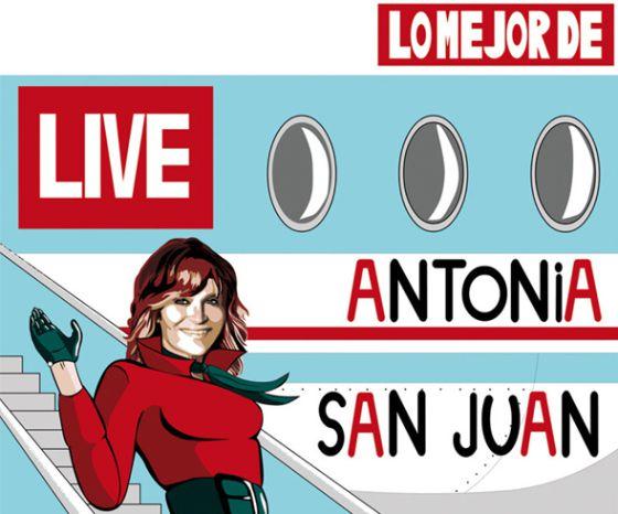 Cartel presentación del espectáculo 'Lo mejor de...' de Antonia San Juan
