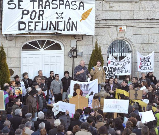 Manifestación convocada por la plataforma contra la incineradora de O Irixo, el pasado enero.