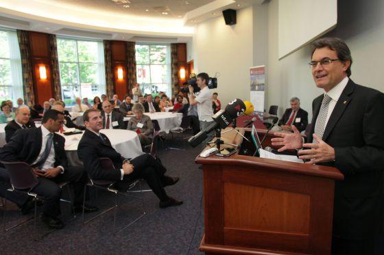 Artur Mas durante la inauguración del seminario sobre infraestructuras.
