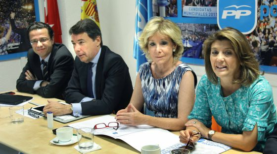 Aguirre durante el Comité del Partido Popular regional.
