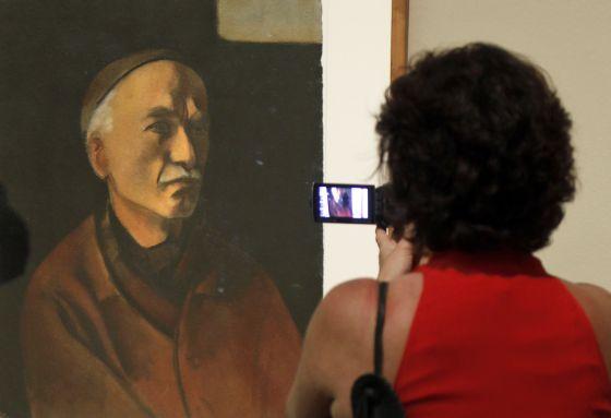Retrat de Julio González pintat per la seua filla Roberta González.