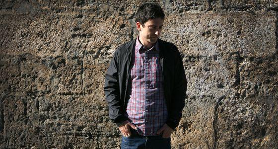 El músic Jorge Pérez, a València.