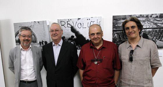 Josep Torrent, Ricard Pérez Casado, Josep Sorribes y Antonio Moreira (editor del libro).