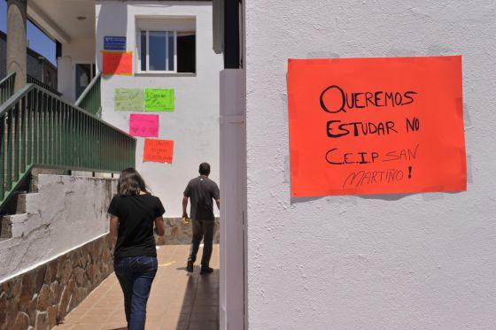 Colegio de Infantil y Primaria San Martiño de Vilariño de Conso.  NACHO GÓMEZ