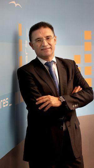 El secretario general, Serafín Castellano, en la sede del PPCV.