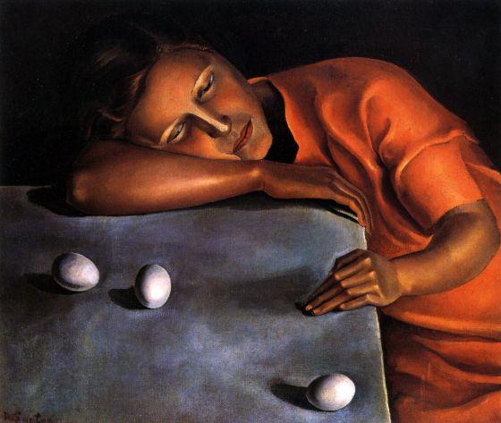 """""""Noia dormint"""", de 1929, també coneguda com a """"Pensativa"""", una de les teles cabdals."""