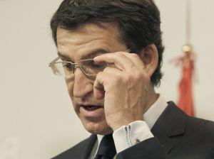 Feijóo, ayer en la rueda de prensa posterior al Consello de la Xunta.