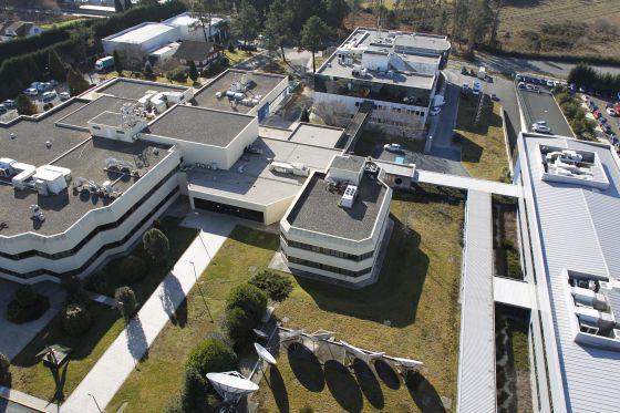 Vista aérea de las instalaciones de CRTVG en Santiago de Compostela.