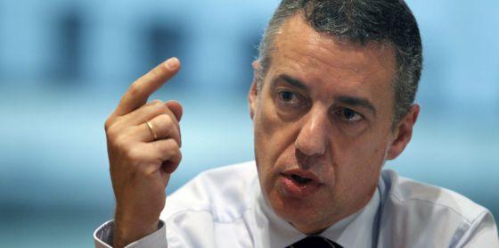 El líder nacionalista gesticula durante el transcurso de la entrevista concedida esta semana a EL PAÍS.