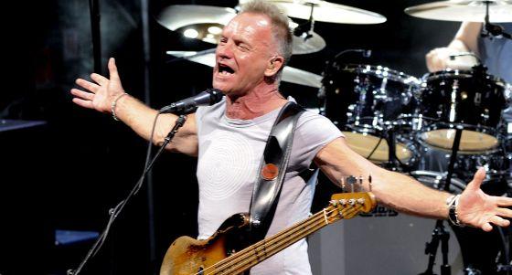 Sting durante su actuación del sábado en Marbella.