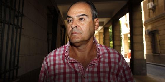Juan Márquez entrando este miércoles a declarar en los juzgados.