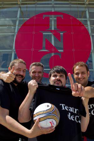 El quartet de la selecció (del) Nacional: d'esquerra a dreta, Marc Rosich, Pere Riera, Jordi Casanovas i Albert Espinosa.