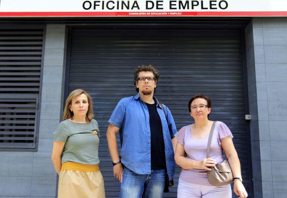 Pepa Sánchez, Nacho Cerezo y Marta Martín.