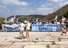 Baño reivindicativo en el Assut d'Antella por la calidad de los ríos