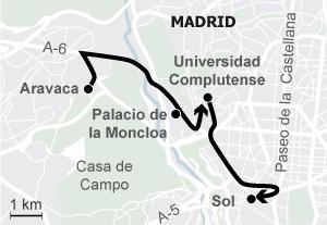 La 'marcha negra' culmina en Madrid arropada por una multitud