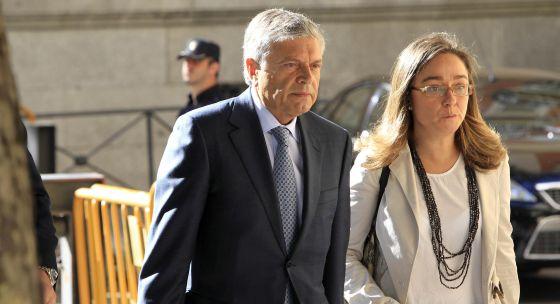 El expresidente de la CAM, Modesto Crespo, a su llegada a la Audiencia Nacional.