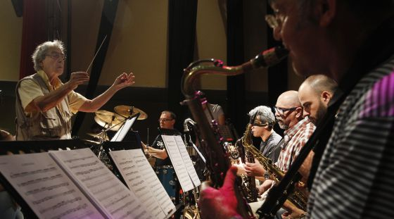 Un ensayo esta semana de la Orquesta Nacional de Jazz, dirigido por Ramón Farrán.