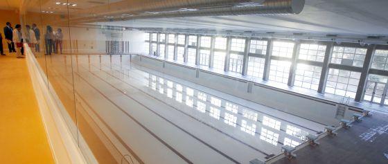 La piscina olímpica del polideportivo de Chamartín.